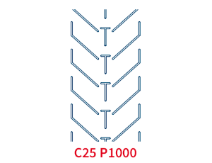 Шевронная лента C25 P1000 EP400