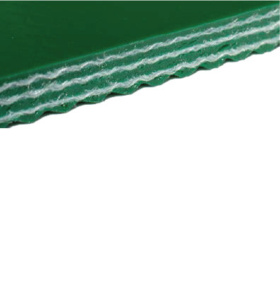 Конвейерная лента ПВХ зелёная гладкая 4,6 мм 18 Н/мм тип P32-11