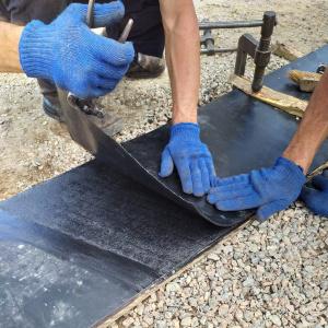 Стыковка конвейерной ленты методом холодной вулканизации